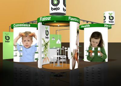 Booth with trend-lifestyle pavilions