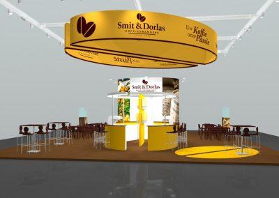 Barista bar as centerpiece of the booth