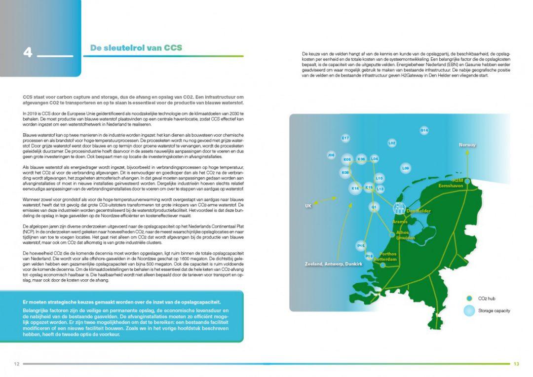 Grafische vormgeving rapport NHN waterstoffabriek Den Helder