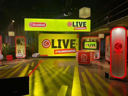 set for live streaming show retail company